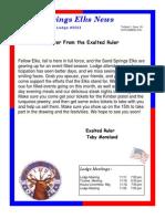 Sand Springs Elks November 2014 Newsletter