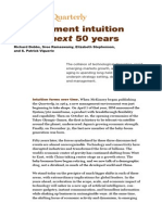 Management Intuition for the Next 50 Years