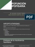 Clase 12 y 13 - Hipofunción Hipofisaria