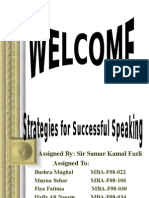 Strategies for Successful Speaking