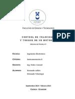 Control de Velocidad y Torque de un Motor CD