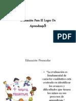 Evaluación Para El Logro Del Aprendizaje Preescolar
