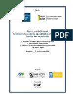 Programa Para El Conservatorio Regional en Bogota
