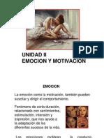 Unidad II Emocion y Motivacion