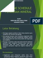 Time Schedule Pemboran Mineral