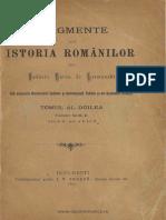 Hurmuzachi Istoria Romanilor 2