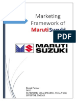Marketing Framework of Maruti Suzuki