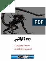 Alien Final papercraft