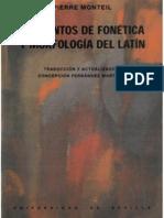 Pierre Monteil - Elementos de Fonética y Morfología Latinas (2003)
