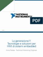 La Generazione Y Tecnologie e Soluzioni Per HMI Di Sistemi Embedded