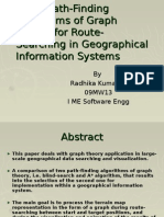 Using Path-Finding Algorithms of Graph Theory for Route-Searching