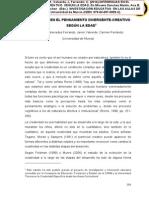41.Soto, G., Ferrando, M., Valverde, J, Ferrandiz, C. (2014). DIFERENCIAS EN EL PENSAMIENTO DIVERGENTE-CREATIVO  SEGÚN LA EDAD En Micaela Sánchez Martín, Ana B. Mirete Ruiz, Noelia Orcajada Sánchez   (Eds.)  INVESTIGACIÓN EDUCATIVA  EN LAS AULAS DE PRIMARIA . pp- 359-372  Murcia