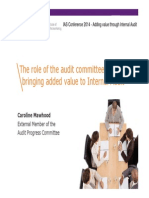 The Role of the Audit Committees