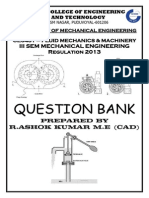 FLUID MECHANCIS AND MACHINERY QUESTION BANK FOR 2013 REGULATION
