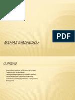 Prezentare Mihai Eminescu