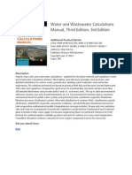 Water and Wastewater Calculations Manual Third Edition eBook