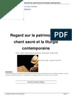 Regard Sur Le Patrimoine Du Chant