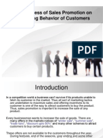 Sales Promotion Impact on customer buying behaviour