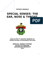 Tutor's Module for Special Senses - The Ear, NOse & Throat