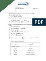 Equações Exatas e Não-homogêneas