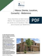 Immobilier Maroc (Vente, Location, Conseils