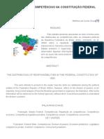 A Repartição de Competências Na Constituição Federal de 1988