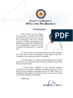 Foreword of VP Jejomar C. Binay for Alvin T. Claridades' Legal and Jurisprudential Lexicon 4th Edition (September 2014)