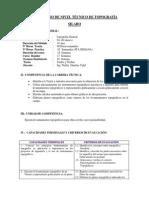 Curso de Nivel Técnico de Topografía - Silabo - Walter Sanchez - 2014