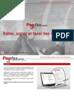 Guide d'Utilisation Offert Par Popfax