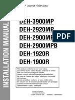 Pioneer DEH-2900MP Installation Manual En