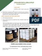 Distillers Sorghum Syrup