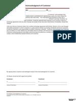 Customer Acknowledgment 2014