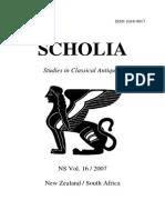 J.Linderski, Review of D. Wardle, Cicero on Divination, Book I (2006), Scholia 16, 2007