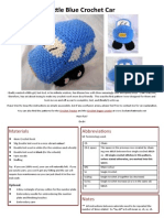 FREE Little Blue Car Crochet Pattern D Uys