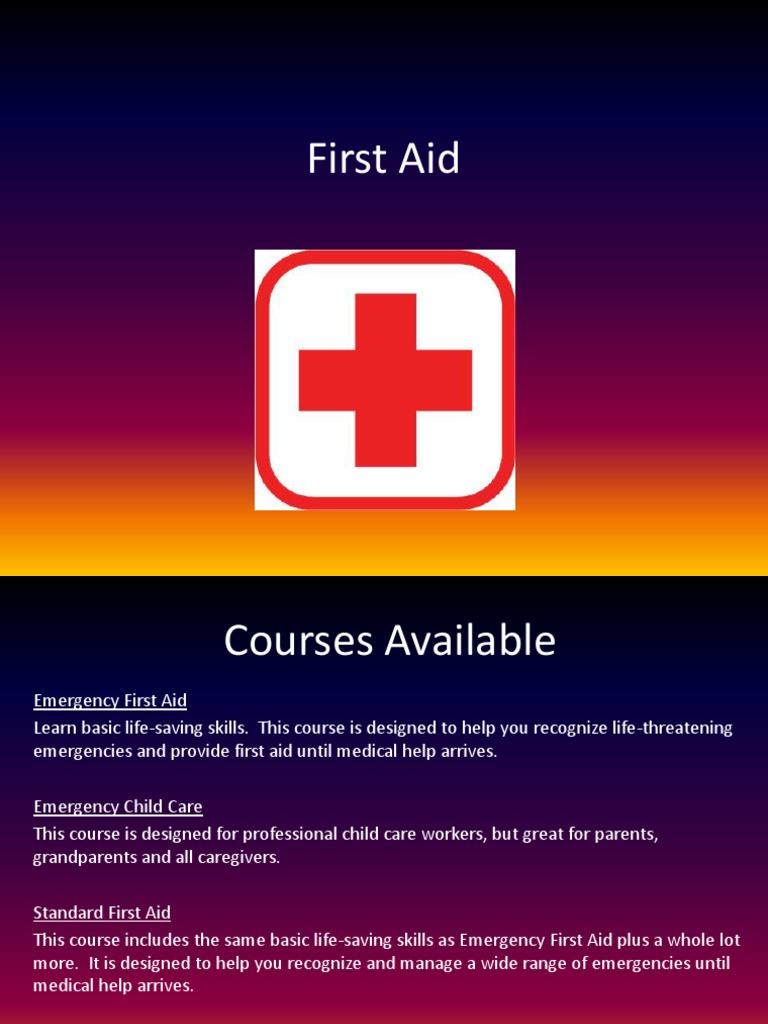first aid   First Aid   Cardiopulmonary Resuscitation