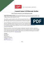 Axicon Auto ID Launch Linear & 2D Barcode Verifier