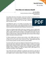 Perú Libre de Violencia Infantil