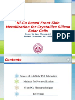 Review of Ni-Cu Based Front Side Metallization for C-Si Solar Cells