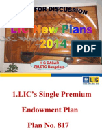 LIC New Plans One Ppt 2014