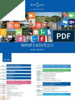 Rapport Activite 2013 Département du Rhône
