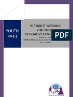 Report of Youth Path's Foremost Working Volunteer Official Meeting