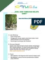 Biofuel Dari Minyak Kelapa Sawit
