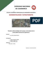 Estudio Sedimentológico Del Campus Universitario de La Universidad Nacional de Cajamarca