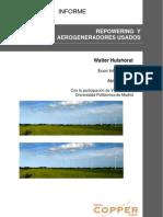 Repotenciación de campos eólicos y mercado de aerogeneradores de segunda mano