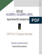 algebra lineal - espacios vectoriales universidad de concepcion