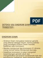 Deteksi USG Sindrom Down Pada Trimester I