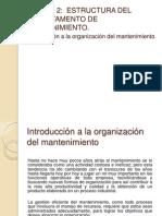 UNIDAD 2 Organizacion Mtto