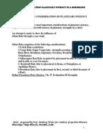STHAN BALA.- A CASE  STUDY OF PLANETARY POTENCY