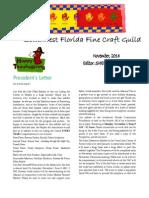 Southwest Florida Fine Craft Guild's November Newsletter 2014