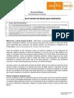 Holanda Aumenta Número de Becas Para Mexicanos, 20-Oct-2014
